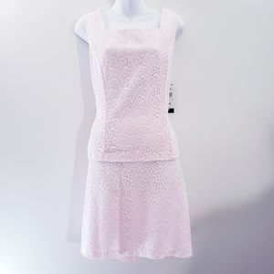 Connected Apparel eyelet 2 piece barely pink 14